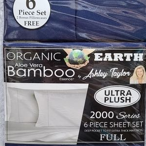 Aloe Vera Bamboo 6 Piece Sheet Set - Full, Blue